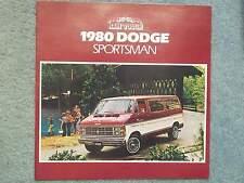 1980 DODGE SPORTSMAN BROCHURE  B300 MAXIWAGON  B200