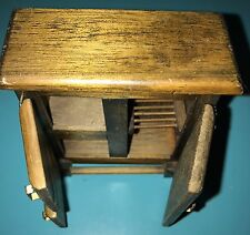 Dollhouse Miniature Concord Wood Old Fashioned Ice Box Chest Refrigerator 1:12