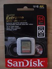 Sandisk Extreme SDXC UHS-1 Card . 64GB. For photos & 4K Video