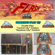 "DC COMICS HEROCLIX THE FLASH OP KIT - Mapa/Map ""Central City"" / ""Keystone City"""