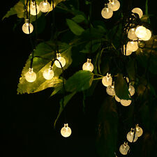 30 LED Crystal Ball Solar Powered Outdoor Waterproof String Lights Christmas New