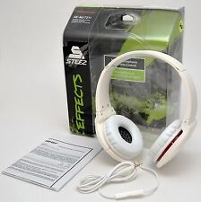 NEW Pioneer SE-MJ721I-W Steez Effects On-Ear Stereo Headphones WHITE In-Line Mic