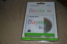 Mini DVD -RW Memorex 3PK 2x1.4 GB 30 min