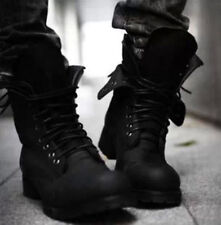 Military Combat Men's Stylish Lace Up Punk Gothic Motorcycle Ankle Boots US 10