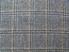 100% Pure New Wool Tweed Windowpane Check Fabric 2.2 m