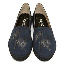 New Authentic KENZO Paris BAMBOO TIGER Logo Blue ESPADRILLES Shoes 40 US-9.5