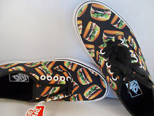 VANS Authentic Late Night Black/Hamburgers Shoes Men's Size 6 New In Box