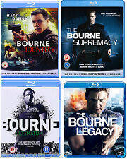 JASON BOURNE COLLECTION QUADRILOGY BLU RAY Identity Supremacy Ultimatum Legacy