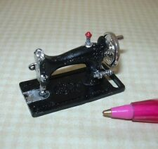 Miniature Economical Black Metal Sewing Machine, Non-Moving:  DOLLHOUSE 1/12