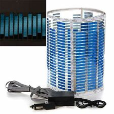 90x25cm lámpara LED Light Blue Car Music Rhythm sonido activado ecualizador
