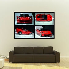Chevy Corvette C7 Stingray LT1 Giant Poster Collage Huge Print 54x36 Inches