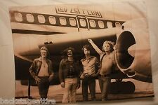 LED ZEPPELIN B/W Jet Airplane 29X43 Cloth Fabric Poster Flag Tapestry Banner-New