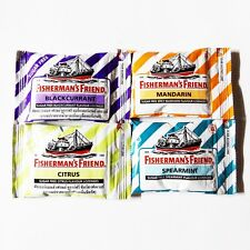 4 x 25 g Fishermans Friend Blackcurrant, Citrus, Mandarin, Spearmint No Sugar