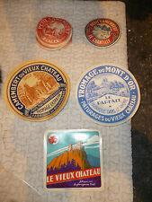 Ancienne Etiquette Petit Camembert Vache Qui Rit Vieux Chateau Mt d'Or Rhone