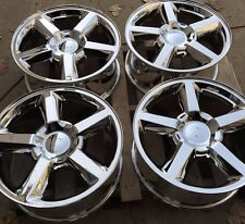 "SET FOUR 20"" PVD CHROME WHEELS RIMS for CHEVY TAHOE SUBURBAN SILVERADO 1500 NEW"
