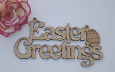 Easter Greetings hanging MDF Laser cut sign /plaque