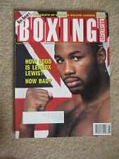AUGUST 1993 BOXING ILLUSTRATED  MAGAZINE LENNOX  LEWIS  COVER