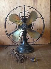 ANTIQUE BRASS BLADE GE ELECTRIC FAN 3 SPEED CAT 75423