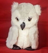 1987 Vintage 24K POLAR PUFF OWL Special Effects Plush DCN Industries 7""