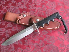 Randall #16 SP1 Special Fighter Knife, Stainless, Black Micarta