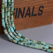 0230 6mm Natural Gemstone African turquoise tube  loose beads 16""