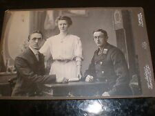 Cdv cabinet photograph soldier family by Hammerschlag at Dortmund Germany c1900s