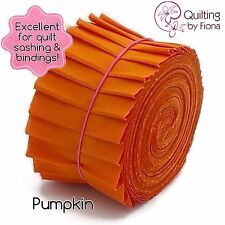 "20 x 2.5"" Pumpkin Orange Jelly Roll PreCut Fabric Strip, 2.5 inch x WOF, Die Cut"