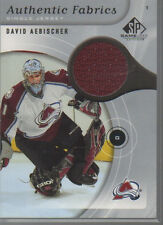 DAVID AEBISCHER 2005-06 SP GAME USED AUTHENTIC FABRICS JERSEY AF-AE
