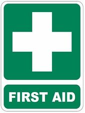 90 x 120mm FIRST AID Safety Sign Sticker for Truck Ute Toolbox Kit