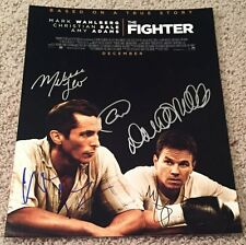 THE FIGHTER CAST SIGNED 11x14 PHOTO MARK WAHLBERG CHRISTIAN BALE +3 AUTOGRAPH