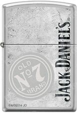 Zippo Jack Daniels Old No. 7 Satin Chrome Windproof Lighter NEW