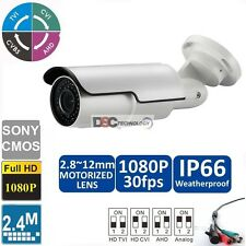 2.4 MP 1080P Water-proof HDCVI 2.7~12mm motorized Lens IR-Bullet Camera