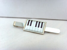 PIANO KEYS PIANIST MUSIC MUSICIAN KEYBOARD TIE SLIDE GRIP BAR PIN TACK