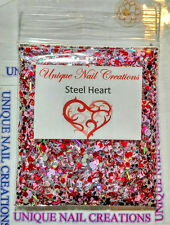 Limited Edition Glitter Mix~STEEL HEART* Comes With Alloy~ Nail Art