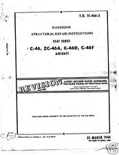 Curtiss C-46 Commando 1940's 50's Structural Repair Manual historic archive WW2