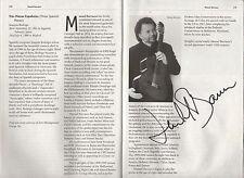 Manuel Barrueco SIGNED Cuban classical guitarist musician guitar Cuba autograph