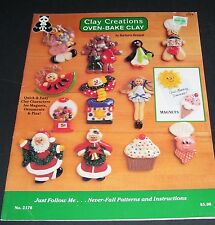 CLAY CREATIONS OVEN-BAKE PATTERN LESSON BOOK #2176 OOP 1991 BY BARBARA BENNETT
