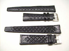 19mm Waffle Watch Strap Band Tropic Type Rubber Perforated Vintage NOS Diver