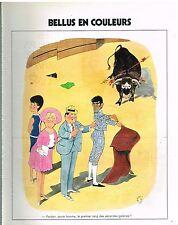Publicité Advertising 1973 Jean Bellus en couleurs