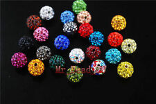 50Pcs 10mm Crystal Rhinestone DIY Jewelry Finding Round Ball Beads Free Shipping