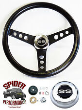 "1969-1977 Malibu Chevelle steering wheel SS CLASSIC BLACK 13 1/2"" Grant wheel"