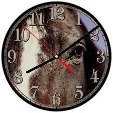 """8"""" WALL CLOCK - Horse 12 Horses Equestrian - Kitchen Office Bathroom Bar Bedroom"""
