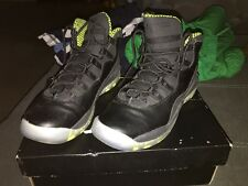 Air Jordan 10 retro (gas) size 6y and men size 9 black/vnm green-cl gray-anthrct