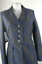Apriori Blazer 38 Longblazer Kurzmantel schwarz blau Polyester Jacke neu m.E.