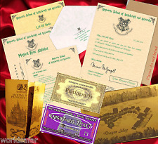 Harry Potter PERSONALISED Hogwarts Acceptance Letter + Maps, Spells + MORE