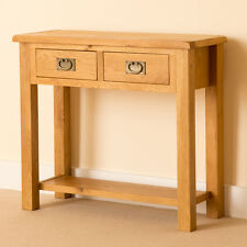 Lanner Oak Console Table / Hall / Side / Telephone Table / Waxed Rustic Finish