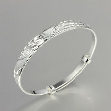Phoenix Bangle 925 Sterling Silver Bracelet Jewelry Women Lady Christmas Gift