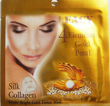 Facy 4 Elements / Gold Pearl Silk Collagen /  White Bright Gold Tissue Mask