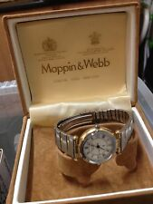 NICE WOMANS MAPPIN & WEBB WATCH  GOLD PLATED/STAINLESS STEEL STRAP ,MAPPIN BOX