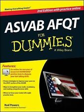 ASVAB AFQT for Dummies by Consumer Dummies Staff (2014, Paperback)